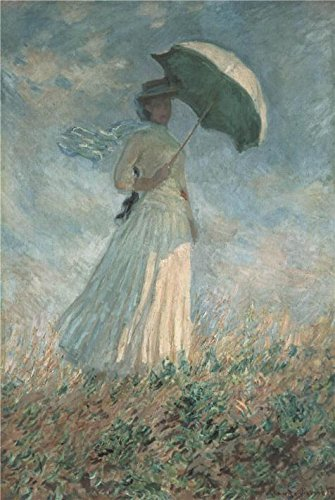 Oil Painting 'Woman With A Parasol Turned To The Right, 1886 By Claude Monet' 18 x 27 inch / 46 x 68 cm , on High Definition HD canvas prints - Eyeglass Manufacturers German Frames