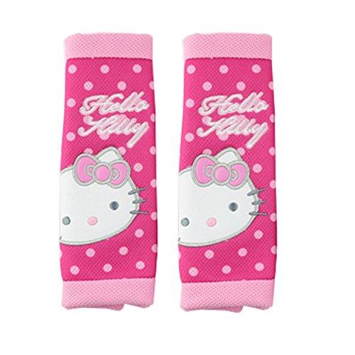 Finex Hello Kitty Polka Dot Car Seat Belt Sets Cover (2pcs)