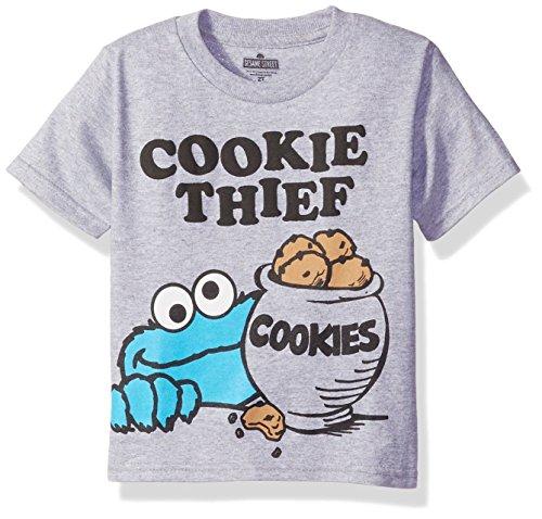 Sesame St Toddler Boys' Short Sleeve T-Shirt Shirt, Gray, 2T -