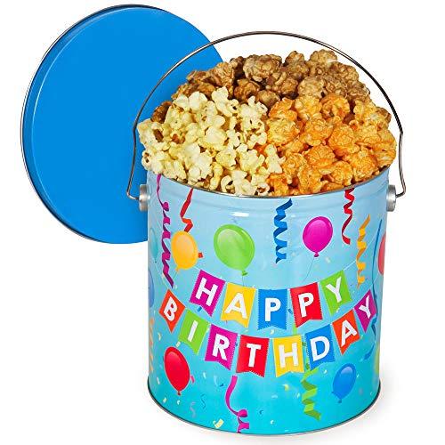 (Happy Birthday Popcorn Tin (Traditional Mix, 1 Gallon))