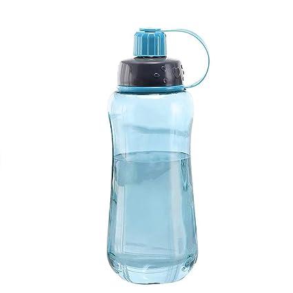 Botella de Deporte portátil, 1000 ML Deportes Portátiles Botella de Agua de Plástico Ciclismo Al