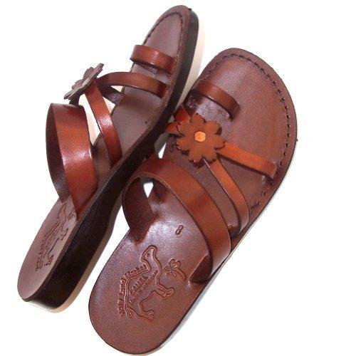 Holy Land Market Unisex Leather Biblical Flip flops (Jesus - Yashua) Galilee Style - EU 41 by Holy Land Market (Image #1)