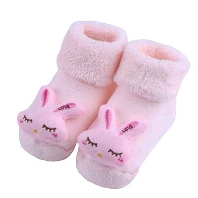 2 paires de chaussettes coton béb?cosy béb?cadeaux Chaussettes confortables Heartwarming Baby Gifts,Lapin mignon