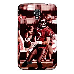 High Grade AmacaAcc Flexible Tpu Case For Galaxy S4 - Oakland Raiders