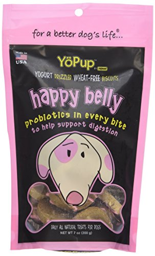 Biscuit Yogurt (Yoghund YoPup Happy Belly Wheat Free Biscuits with Yogurt Probiotic Icing for Pets, 7-Ounce)
