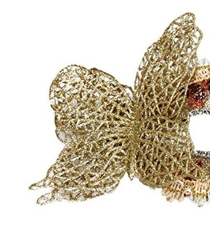 Fancy Gras Zekaer Maschera Cosplay Mardi Partito Veneziana Natale Dress oro pUwwqg1