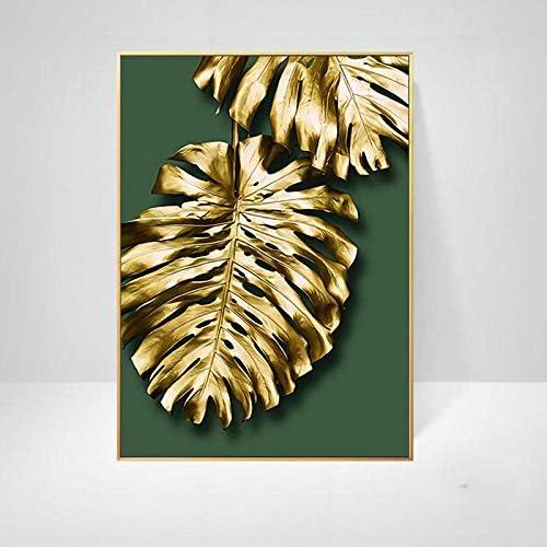 Llxhg葉キャンバス絵画プリントリビングルームホームデコレーション現代壁アート油絵写真クラシックミニマリスト-40×50セン
