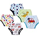 Dimore Baby Toddler 5 Pack Cotton Waterproof Training Pants (M, Boy)