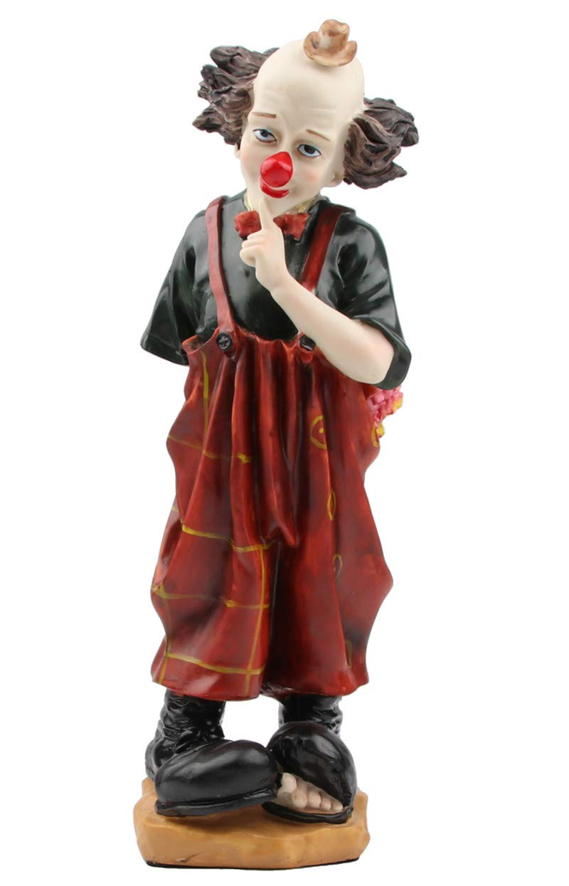 14in High Resin Clown Figurines and Statues for Home Decor,Table Centerpieces,Bookshelf Ornament, Souvenir