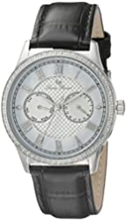 Lucien Piccard Women's LP-10334-02 Brela Analog Display Japanese Quartz Black Watch