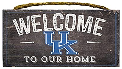 Kentucky Wildcats 6x12 Wood Sign - Welcome to our Home