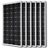 Renogy 6 Pieces 100W Monocrystalline Photovoltaic PV Solar Panel Module, 12V Battery Charging