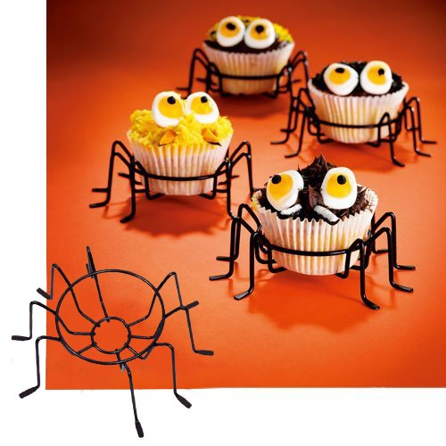 Cupcake Holder, Metal Wire Spider Cupcake Stands Set of 4. The Perfect Cupcake Carrier, Spiderman Party.