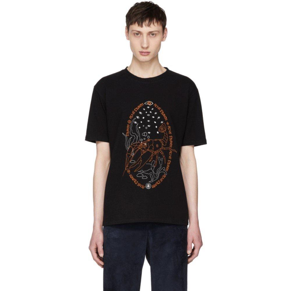 (アクネ ストゥディオズ) Acne Studios メンズ トップス Tシャツ Black Bemade Crayfish T-Shirt [並行輸入品] B07D15TDWM S