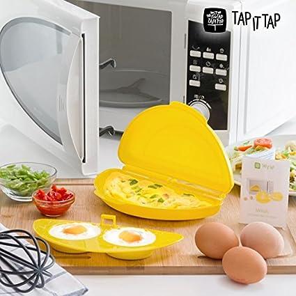 Microwave Collar Maker. Recipiente para Preparar sabrosas Collar y frittate con Accesorio para cocinar Huevos
