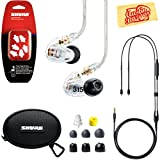Shure SE315 Sound Isolating Earphones - Clear Bundle with Remote Cable, Triple Flange Sleeves, Sleeve Fit Kit, Carrying Case, and Austin Bazaar Polishing Cloth