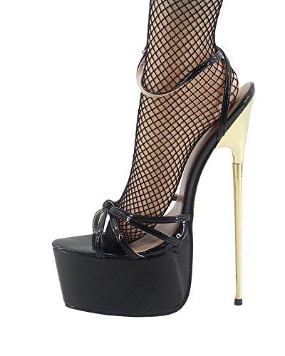 WONDERHEEL Womens Platform Sandals Black 11 US