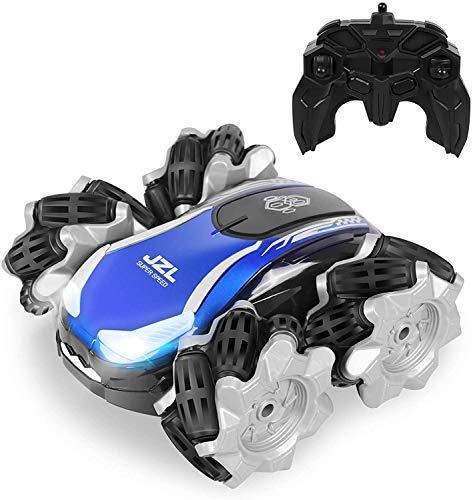ERollDeep Remote Control Car for Kids,Multi-Directional Hight Speed RC Drift Cars,2.4GHz 4WD RC Stunt Car with Dual-Color Headlights,Rechargeable Battery,Off Road RC Cars for Boys Age 4-7,8-12