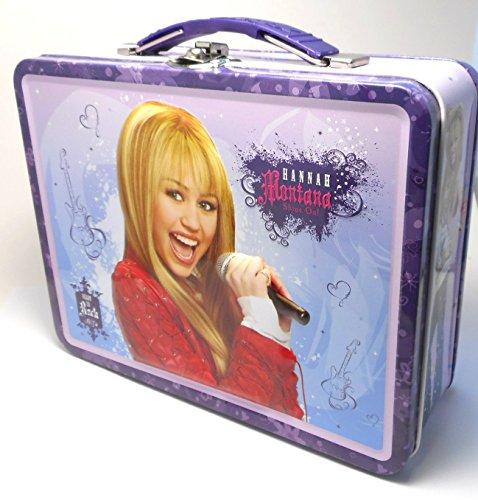 Hannah Montana Lunch Box (2009 Hannah Montana Large Carry All Dark Purple Handle Lunch Box)