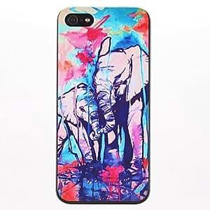 SHOUJIKE Graffiti Elephant Pattern PC Hard Case for iPhone 5/5S