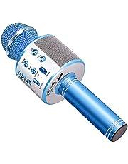 آلة ميكروفون كاريوكي لاسلكية تعمل بالبلوتوث ، محمولة محمولة باليد كاريوكي بلوتوث محمولة باليد ، آلة مشغل كاريوكي للأطفال والكبار وحفلات KTV المنزلية من أجل Android - Iphone - Ipad - Pc Girl Boy Blue