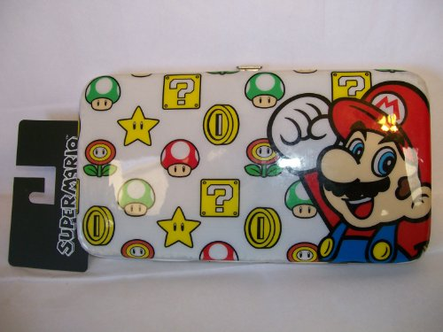 Flower Hinge - Super Mario Cushioned Hinge Wallet Featuring Mario , Coins, Mushroom , Question Box , Fire Flower and Star 7