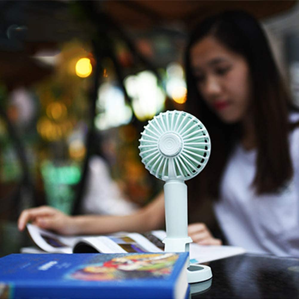 scgtpapadc Fashion Aroma Handheld USB Fan Rechargeable Student Stand Fans Office Desktop Cooler Blue