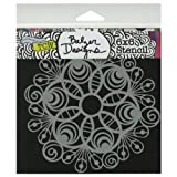 Crafters Workshop Template Chalk Board, 6 by 6-Inch, Peacock Doily by CRAFTERS WORKSHOP