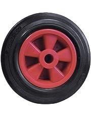 Dörner + Helmer 714221ROT massief rubberen wiel met glijlagers 200 x 50 x 20 mm naafbreedte 58 mm