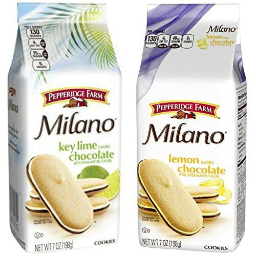 Key Lime Chocolate - Pepperidge Farm Milano Lemon & Key Lime Flavor Chocolate Cookies 7 oz