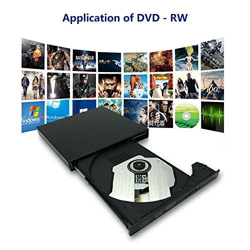 tengertang USB External blu-Ray Drive, Portable DVD Burner,BD-ROM,DVD/CD-RW/ROM Writer,Support xp/Win/ Linux System Related Desktop, Notebook, etc.(Black) by tengertang (Image #4)