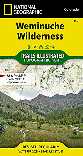 Weminuche Wilderness (National Geographic Trails Illustrated Map) ()