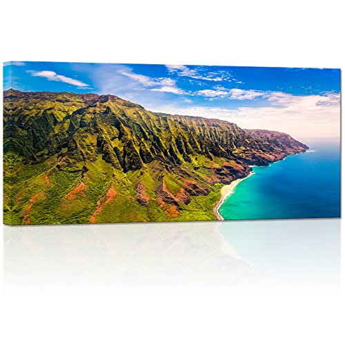 Visual Art Decor Napali Coast Kauai Island Hawaii Landscape Picture Canvas Wall Art Prints Home Decoration Ready to Hang (03 napali Coast)