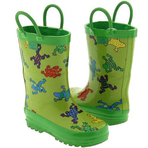 Pluie Pluie Toddler Kids Green Frog Rain Boots 8
