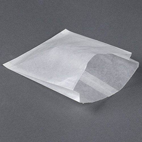 Glassine Waxed Paper Bag, Flat Glassine Lined Paper Gourmet Bags 6 x 7 x 3/4, (Glassine Paper Bags)