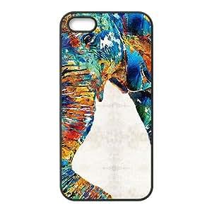 [Elephas Maximus] colorful elepant art Case For Sam Sung Note 2 Cover {Black}
