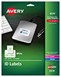 Avery Permanent ID Labels for Laser and Inkjet Printers, 1.25 x 1.75 Inch, White, 480 Labels (6570)