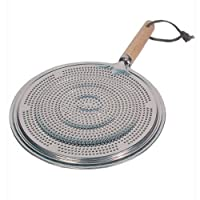 2 x SIMMER RING PAN MAT HEAT DIFFUSER FOR ELECTRIC OR GAS COOKER - DIAMETER 21cm
