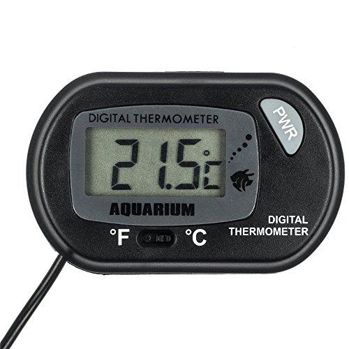 Zacro digital aquarium thermometer fish tank water for Temperature for fish