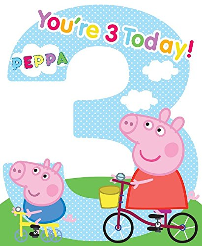 Amazon Large Peppa Pig 3rd Birthday Card Office Products