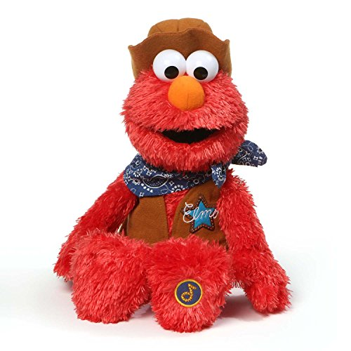 GUND Singing Cowboy Elmo Plush Sesame Street Stuffed Toy