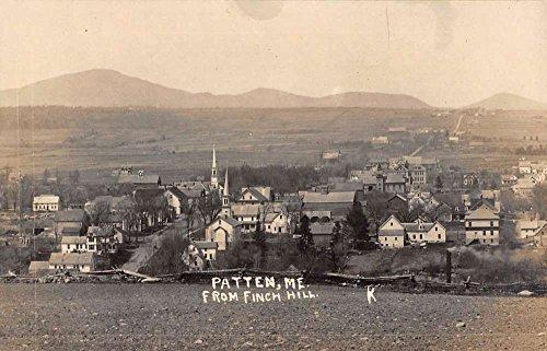 Patten Maine Finch Hill Real Photo Antique Postcard K77771