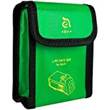 Fireproof Battery Bags for DJI SPARK Drone - Custom Designed Fireproof Bags Perfectly Fits Your Drone Batteries, Must Have For Safe Charging, Storing - Includes 2 Bags (Green) by Adam Elements