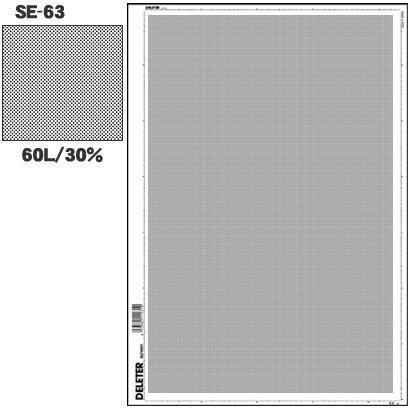 Deleter Screen Tone SE-63 [Dot Pattern 60L/30%] [B4 Size: 362 x 253 mm (14.25