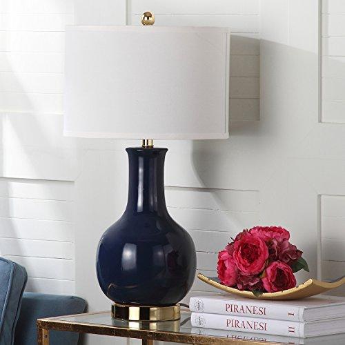 Safavieh Lighting Collection Paris Royal Blue Ceramic 27.5-inch Table Lamp