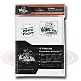 (1) Matte White with White Pages Monster Protectors 9 Pocket Page Binder Album Card Holder for Yu-gi-oh, Pokemon, Magic the Gathering, Baseball, and Basketball Sports Trading Cards by Monster Protectors