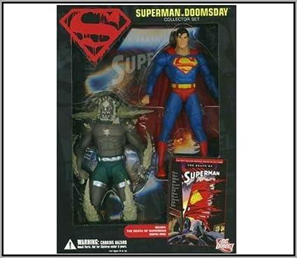 Amazon Com Dc Direct Superman Vs Doomsday Action Figure