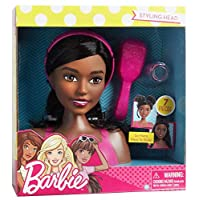 Barbie Styling Head Black Hair, 7 Pieces