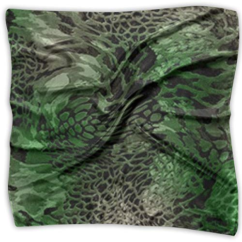 GHUJAOOHIJIO Green Snake Print 100% Silk, Silk Scarf Square, Small Handkerchief, Bandana Classic Square Scarf Small