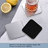 Coasters - Stainless Steel Anti-Slip Square Cup